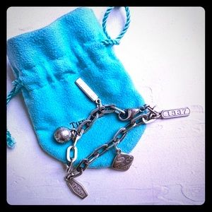 TIFFANY&Co 💯 authentic 2837 Five Charm Bracelet